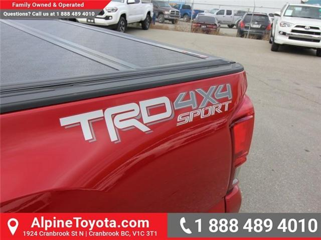 2017 Toyota Tacoma TRD Sport (Stk: X168867A) in Cranbrook - Image 18 of 20