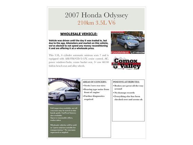 2007 Honda Odyssey LX (Stk: S271492B) in Courtenay - Image 10 of 11