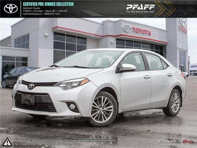 2014 Toyota Corolla 4-door Sedan LE CVTi-S (Stk: H18857A) in Orangeville - Image 1 of 27