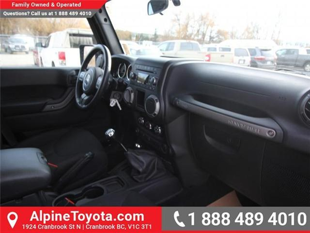 2016 Jeep Wrangler Unlimited Sport (Stk: X033494A) in Cranbrook - Image 11 of 16