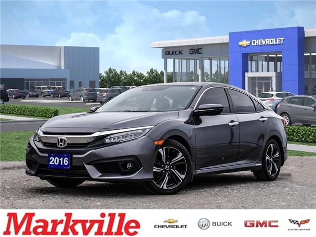 2016 Honda Civic 4DR TOURING-LEATHER-NAV-RF-CERTIFIED PRE-OWNED-1 OWNER (Stk: 270015A) in Markham - Image 1 of 25