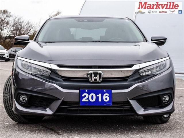 2016 Honda Civic 4DR TOURING-LEATHER-NAV-RF-CERTIFIED PRE-OWNED-1 OWNER (Stk: 270015A) in Markham - Image 2 of 25