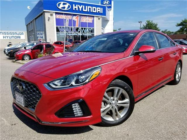 2018 Hyundai Sonata Sport-Alloy-Leather and sunroof (Stk: op9957) in Mississauga - Image 1 of 23