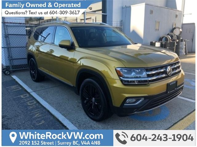 2018 Volkswagen Atlas 3.6 FSI Execline (Stk: JA562322) in Surrey - Image 1 of 4