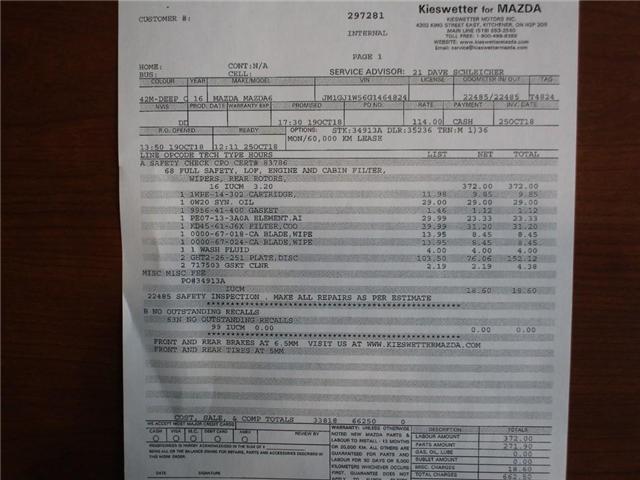 2016 Mazda 6 GT (Stk: 34913A) in Kitchener - Image 4 of 30