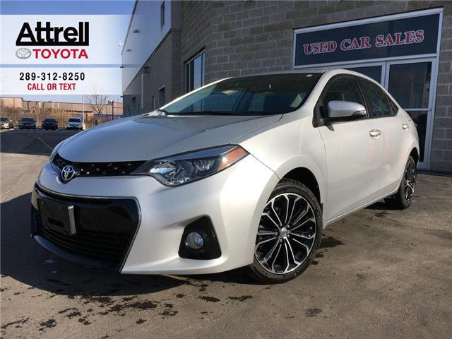 2014 Toyota Corolla S TECH PKG LEATHER, SUNROOF, NAVIGATION, ALLOYS, F (Stk: 42814A) in Brampton - Image 1 of 29