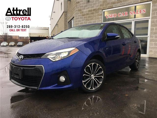 2014 Toyota Corolla S PREM PKG LEATHER, SUNROOF, POWER HEATED SEATS, B (Stk: 42202A) in Brampton - Image 1 of 25