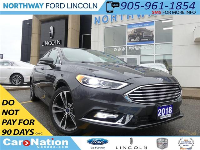 2018 Ford Fusion Titanium |LIKE NEW|NAV|LEATHER|MOON ROOF|REAR CAM| (Stk: P5073) in Brantford - Image 1 of 26