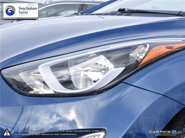 2016 Hyundai Elantra GLS (Stk: U9022A) in Ottawa - Image 10 of 27