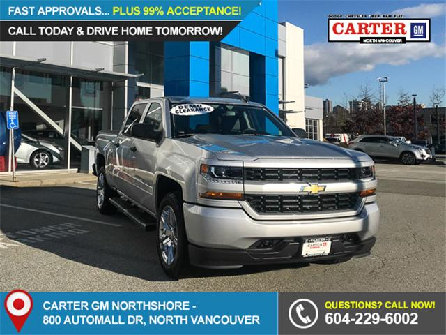 2018 Chevrolet Silverado 1500 Silverado Custom (Stk: 8L54670) in North Vancouver - Image 1 of 13