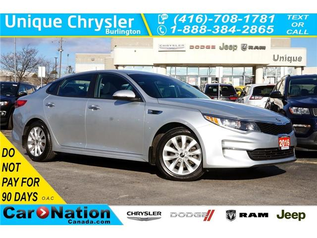 2016 Kia Optima LX+| REAR CAM| 17in WHEELS| DRIVER MEMORY SEAT (Stk: J1190A) in Burlington - Image 1 of 30