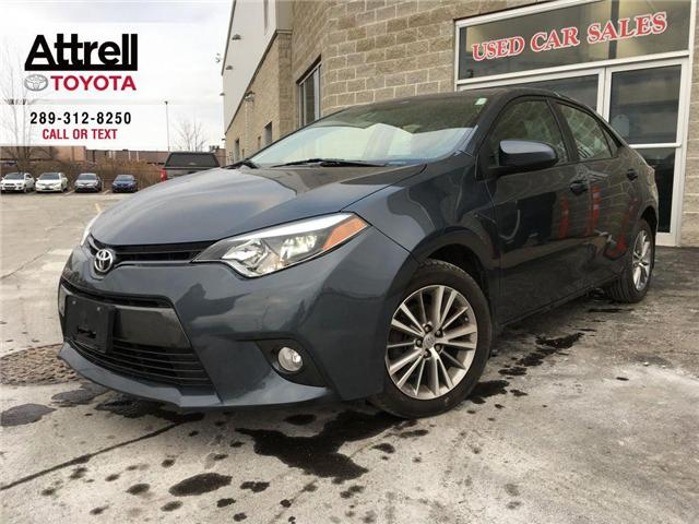 2015 Toyota Corolla LE UPGRADE PKG SUNROOF, ALLOY WHEELS, FOG LAMPS, A (Stk: 42851A) in Brampton - Image 1 of 28