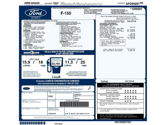 2010 Ford F-150 Lariat (Stk: 8F8500A) in Kitchener - Image 2 of 4
