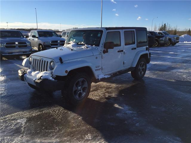 2016 Jeep Wrangler Unlimited Sahara (Stk: 18WR4600A) in Devon - Image 1 of 14