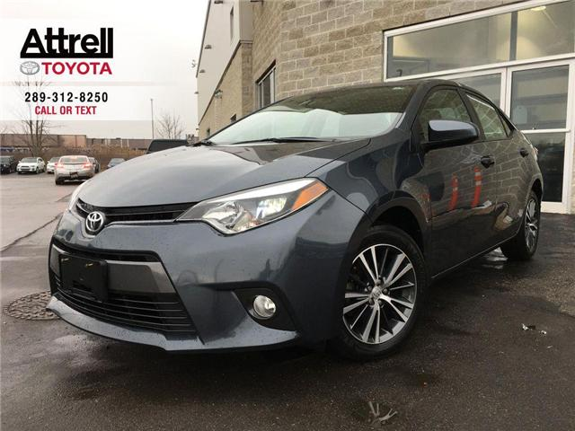 2016 Toyota Corolla LE UPGRADE PKG SUNROOF, ALLOY WHEELS, FOG LAMPS, A (Stk: 42888A) in Brampton - Image 1 of 28