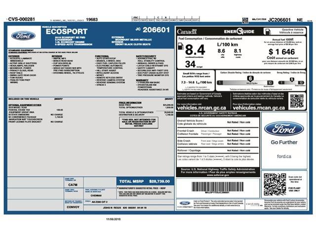 2018 Ford EcoSport SE (Stk: ET181005) in Barrie - Image 15 of 15