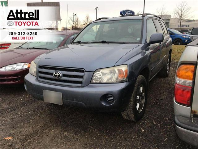 2005 Toyota Highlander 4WD V6 B PKG LEATHER, ALLOYS, POWER DRIVER SEATS,  (Stk: 42535A) in Brampton - Image 1 of 8