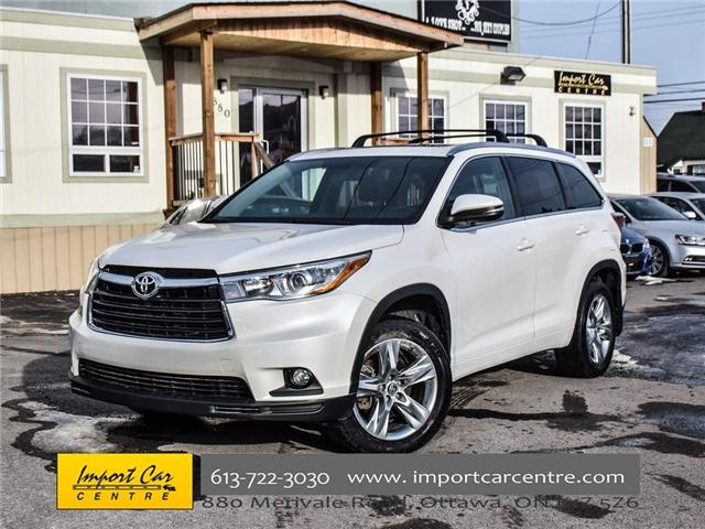 2016 Toyota Highlander Limited (Stk: 300685) in Ottawa - Image 1 of 24