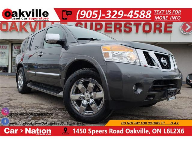 2012 Nissan Armada PLATINUM EDITION | TV | CAPTAIN CHAIRS | NAV (Stk: P11716) in Oakville - Image 1 of 28