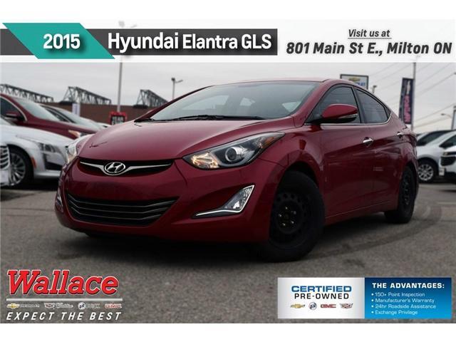 2015 Hyundai Elantra Limited/LEATHR/SUNRF/HTD F&R STS/8-SPKR (Stk: 126128A) in Milton - Image 1 of 20