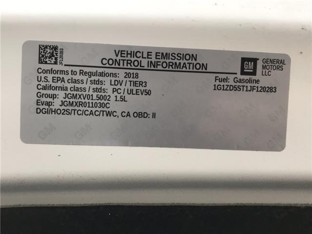 2018 Chevrolet Malibu LT (Stk: JF120283) in Sarnia - Image 20 of 20