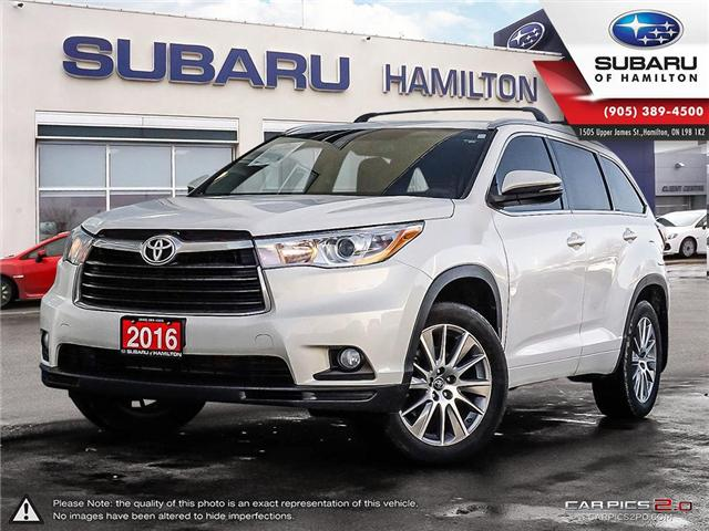 2016 Toyota Highlander XLE (Stk: U1375) in Hamilton - Image 1 of 25