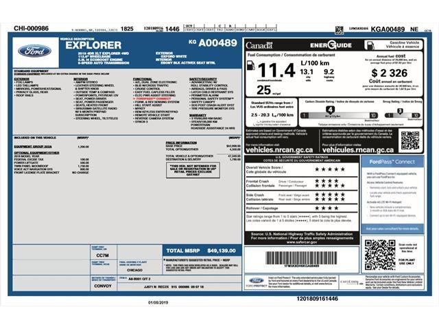 2019 Ford Explorer XLT (Stk: EX19045) in Barrie - Image 2 of 23