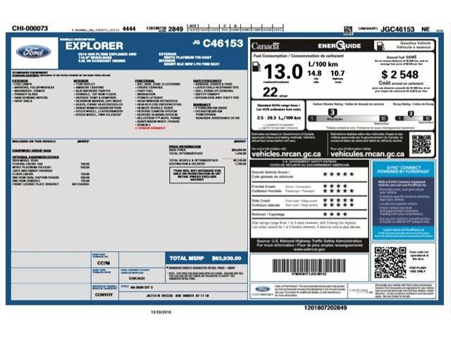 2018 Ford Explorer Platinum (Stk: EX181306) in Barrie - Image 2 of 30