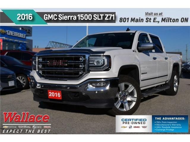2016 GMC Sierra 1500 SLT/Z71/TRAILR PKG/SUNRF/20s/6 STEPS/HTD&CLD STS (Stk: 305384A) in Milton - Image 1 of 25