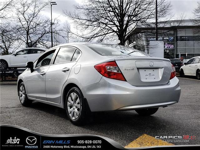 2012 Honda Civic LX (Stk: P4446) in Mississauga - Image 4 of 17