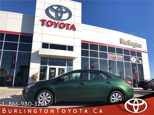 2015 Toyota Corolla LE (Stk: U10516) in Burlington - Image 1 of 7