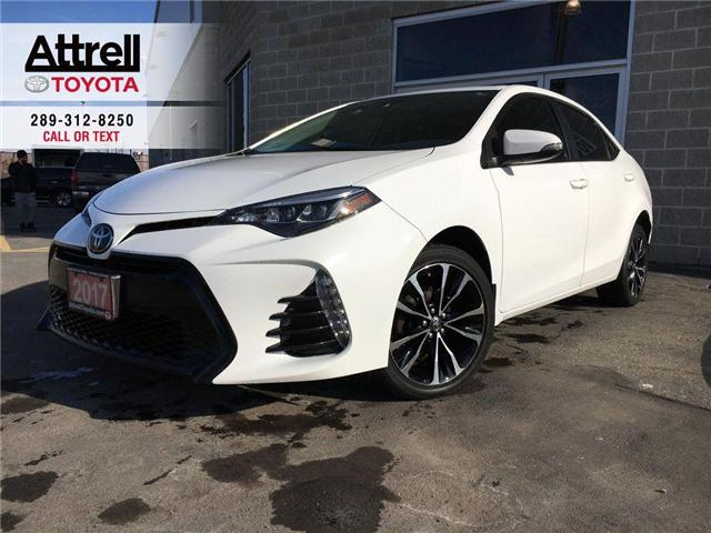 2017 Toyota Corolla SE UPGRADE PKG HEATED STEERING, ALLOYS, MOONROOF,  (Stk: 42811XA) in Brampton - Image 1 of 28