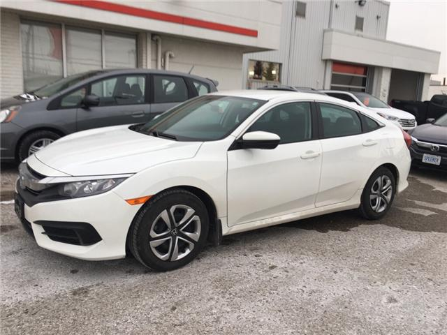 2016 Honda Civic LX (Stk: U5077) in Waterloo - Image 1 of 3