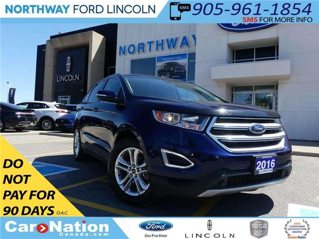 2016 Ford Edge SEL   NAV   REAR CAM   PANO ROOF   LEATHER   (Stk: F181171A) in Brantford - Image 1 of 25