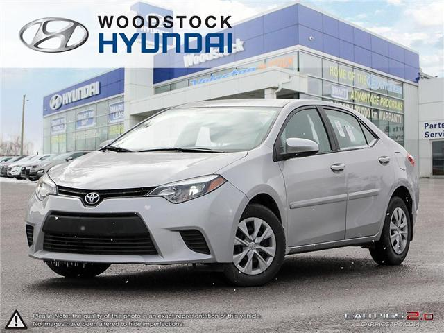 2014 Toyota Corolla CE (Stk: P1340) in Woodstock - Image 1 of 27