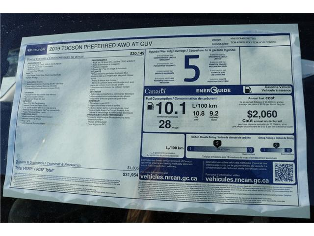 2019 Hyundai Tucson Preferred (Stk: 97551) in Saint John - Image 2 of 2