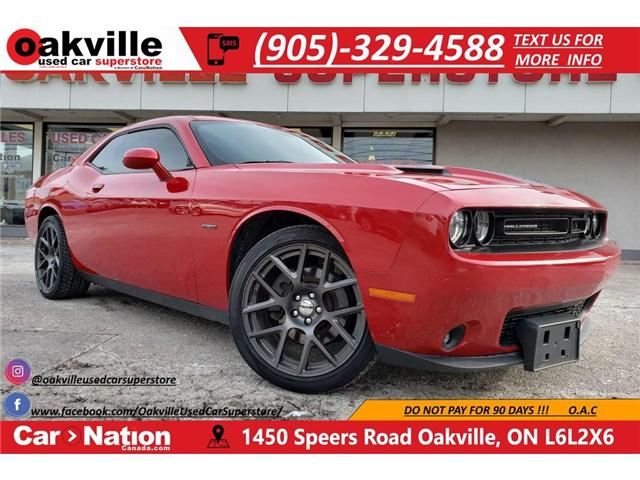 2016 Dodge Challenger R/T | NAV | B/U CAM | RED LEATHER | HTD VNTD SEATS (Stk: P11740A) in Oakville - Image 1 of 20