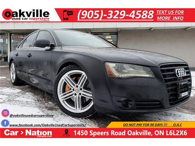 2014 Audi A8 3.0 | MATTE BLACK | MASSAGE | NAV | B/U CAMERA (Stk: P11747A) in Oakville - Image 1 of 30