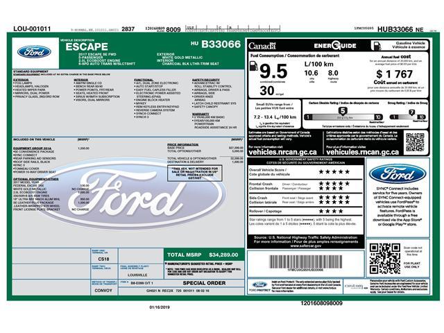 2017 Ford Escape SE (Stk: 146990) in Kitchener - Image 2 of 5