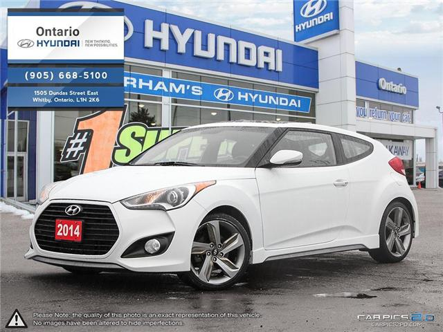 2014 Hyundai Veloster Turbo / Auto / 4 New Tires! (Stk: 90762K) in Whitby - Image 1 of 27