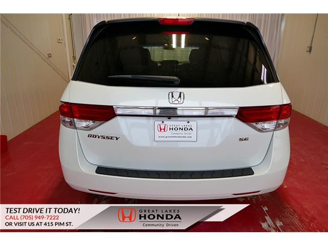 2016 Honda Odyssey SE (Stk: H6200A) in Sault Ste. Marie - Image 5 of 22