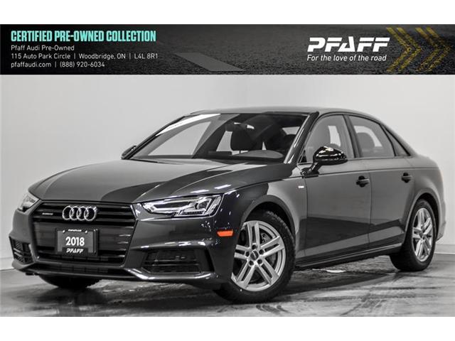 2018 Audi A4 2.0T Progressiv (Stk: C6512) in Woodbridge - Image 1 of 22