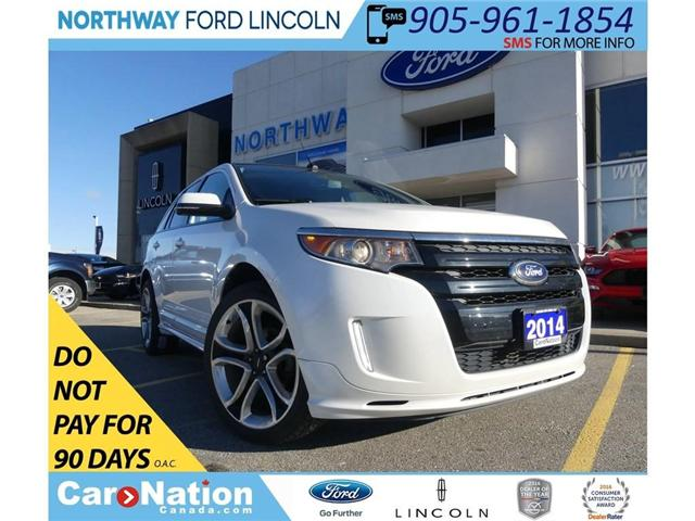 2014 Ford Edge Sport | NAV | LEATHER | REMOTE START | PANO ROOF (Stk: F186913A) in Brantford - Image 1 of 25