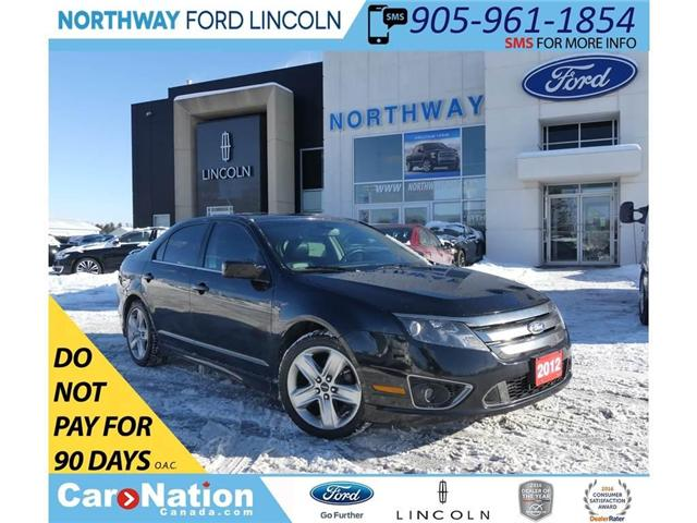 2012 Ford Fusion SPORT | AWD | HTD LEATHER | MOONROOF | (Stk: P5082A) in Brantford - Image 1 of 27
