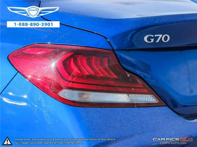 2019 Genesis G70 G70 4DR AT AWD SPORT (Stk: 184389) in Markham - Image 10 of 25