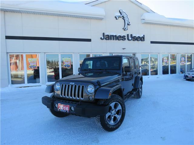 2016 Jeep Wrangler Unlimited Sahara (Stk: P02574) in Timmins - Image 1 of 8