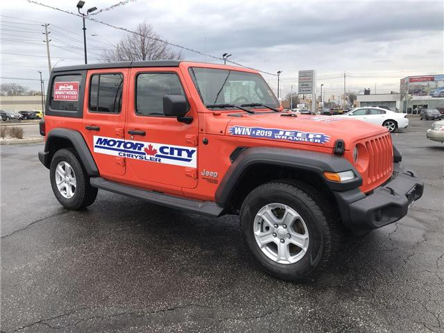 2018 Jeep Wrangler Unlimited Sport (Stk: 181134) in Windsor - Image 1 of 11