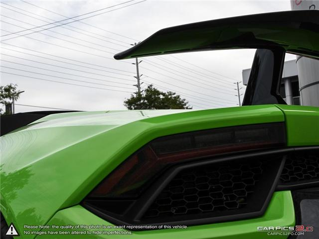 2018 Lamborghini Huracan Performante | AWD | V10 | 640 hp @ 8000 rpm | MAX (Stk: 18MSX572) in Mississauga - Image 11 of 29