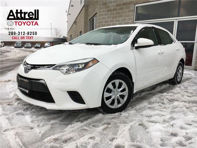 2014 Toyota Corolla CE POWER GROUP, ABS, BLUETOOTH, USB, AUX, STEERING (Stk: 42195A) in Brampton - Image 1 of 23