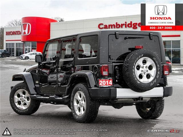 2014 Jeep Wrangler Unlimited Sahara (Stk: 19403A) in Cambridge - Image 4 of 27